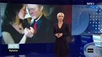 Anne Marit og Magnus danser på LørDagsrevyen på NRK