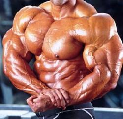 overkroppen til en bodybuilder