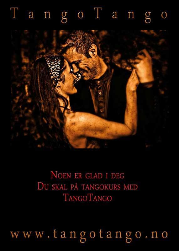 Framside av gavekort for tangokurs