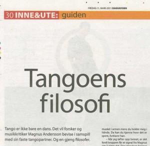 Tangoens filosofi i Dagsavisen